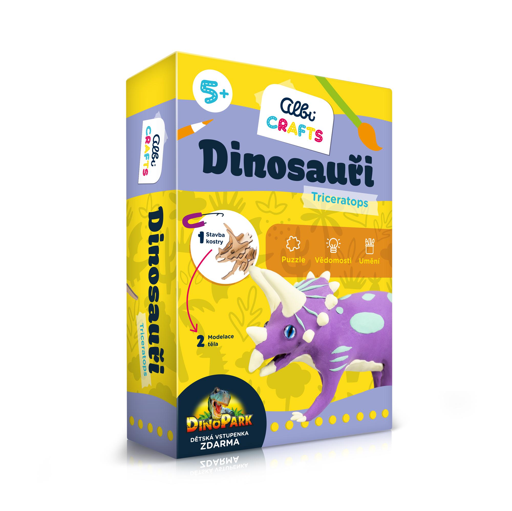 Dinosauři - Triceratops - Albi Crafts